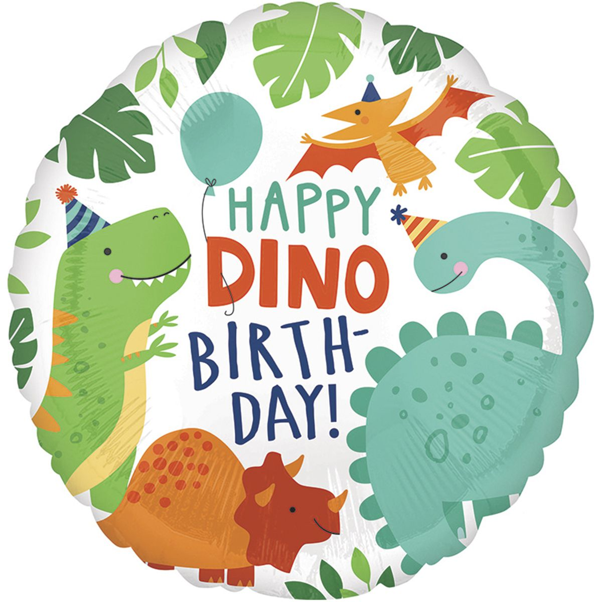 Фольгированные шары Happy dino birthday