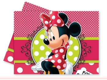 Скатерть на стол Minnie Mouse красная